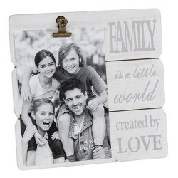 White Message Clip Photo Frame Family