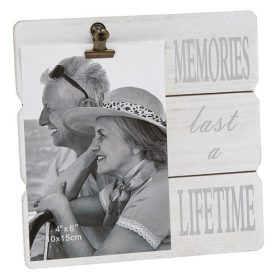 White Message Clip Photo Frame Memories