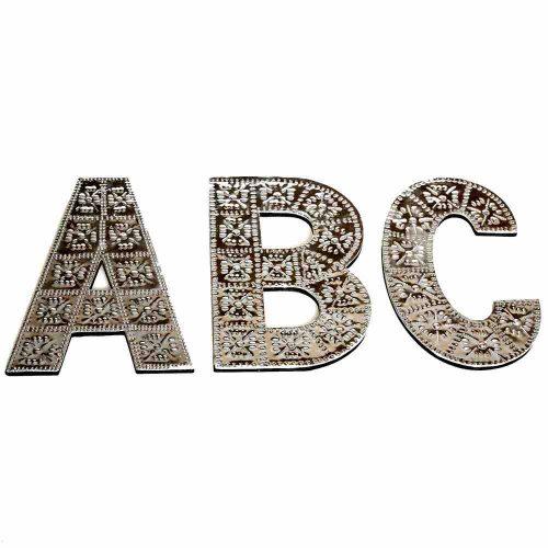20cm Wooden & Aluminium Letter ABC