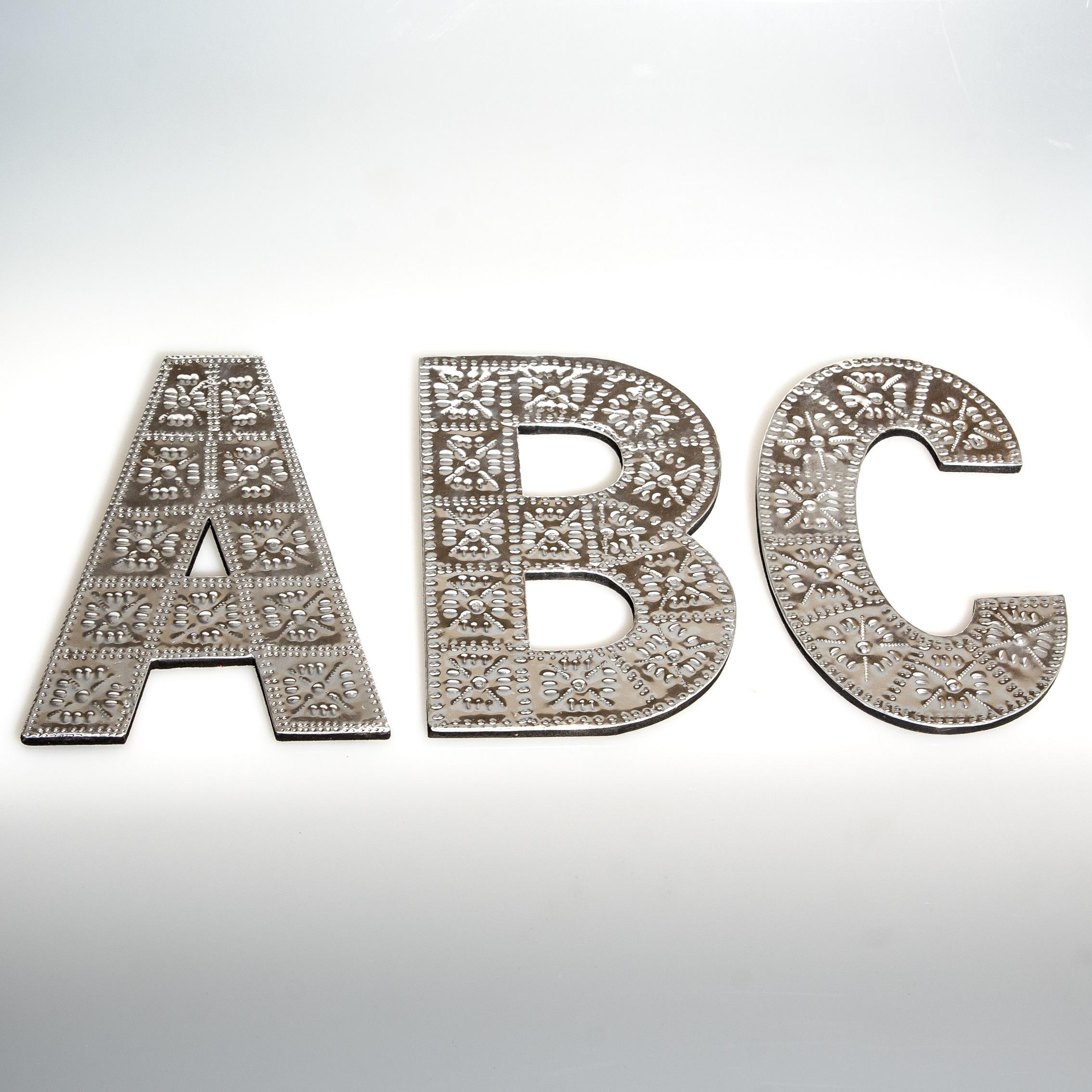 10cm – Wooden & Aluminium Letter-0