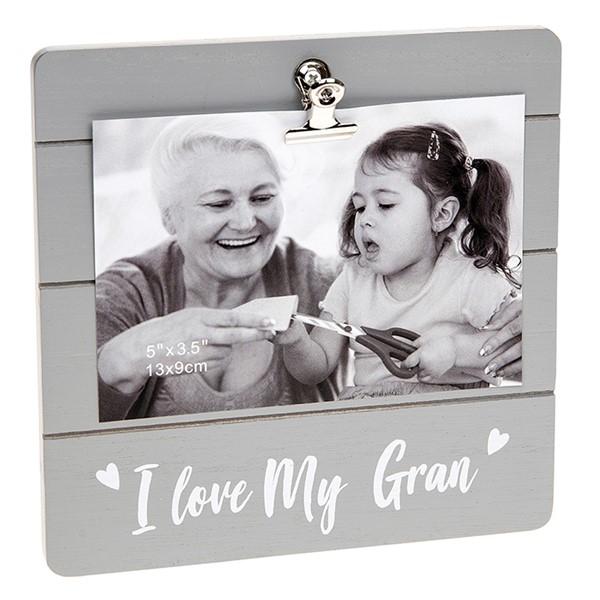 Gran Grey Cutie Clip Photo Frame