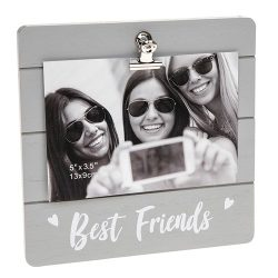 Best Friends Grey Cutie Clip Photo Frame