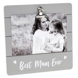 Best Mum Ever Grey Cutie Clip Photo Frame