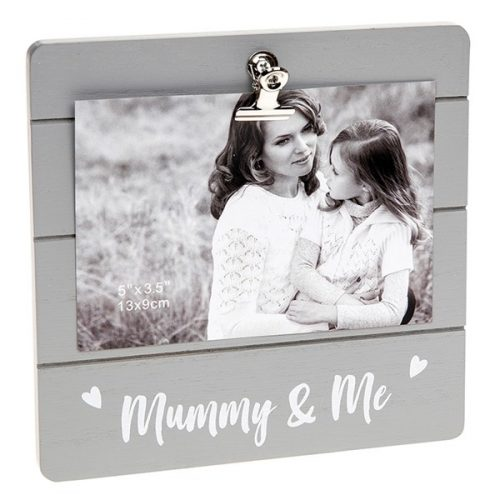 Mummy & Me Grey Cutie Clip Photo Frame
