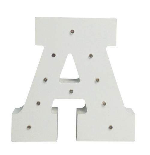 Alphabet Light Up Letter by Peace & Thyme