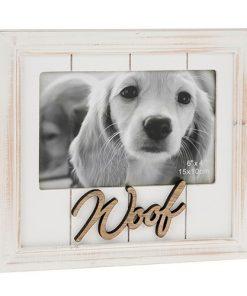 One Word Photo Frame Woof