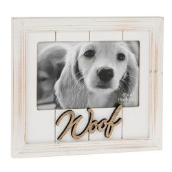 One Word Photo Frame Woof
