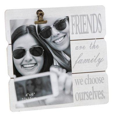 White Message Clip Photo Frame Friends