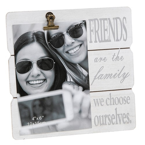 White Message Clip Photo Frame Friends