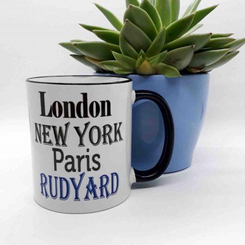 London New York Paris 'Add Any Place' Mug