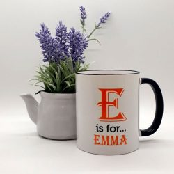 Personalised Mug Any Letter Any Name in A1 Font