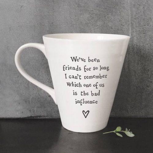 East Of India Bad Influence Porcelain Mug