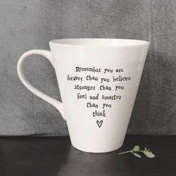 East Of India Braver Stronger Smarter Porcelain Mug