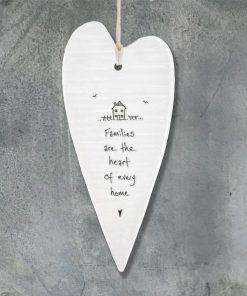 East Of India Families Heart Elegant Porcelain Heart