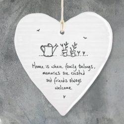 East Of India Family Belongs Porcelain Heart