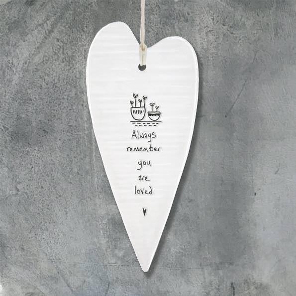 East Of India Freind Always Remember Elegant Porcelain Heart