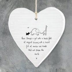 East Of India Freind Magical Girl Porcelain Heart