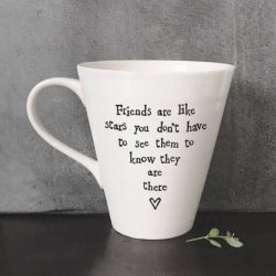 East Of India Friends Like Stars Porcelain Mug