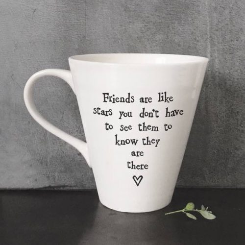 East Of India Friends Like Stars Porcelain Mug