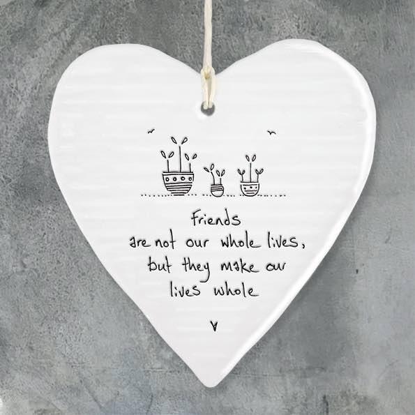East Of India Friends Make Porcelain Heart
