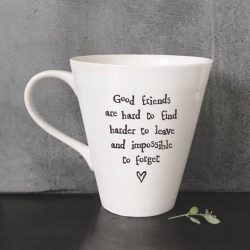 East Of India Good Friends Porcelain Mug