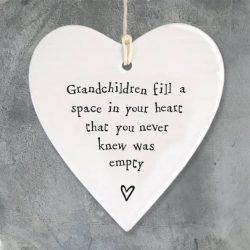 East Of India Grandchildren Porcelain Heart