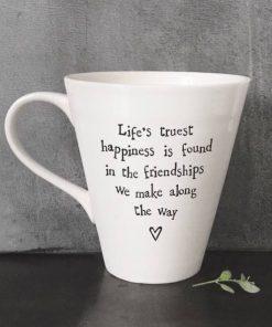 East Of India Life's Happiness Porcelain Mug