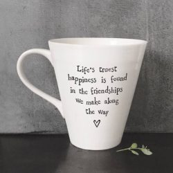 East Of India Life's Happiness Porcelain Mug