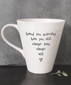 East Of India Love Always Porcelain Mug