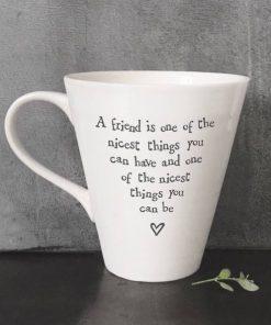 East Of India Nicest Friend Porcelain Mug