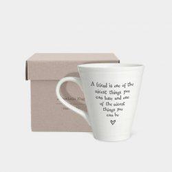 East Of India Nicest Friend Porcelain Mug Box
