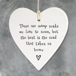 East Of India Road Home Porcelain Heart