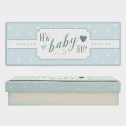 East of India Baby Boy Keepsake Box White