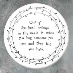 East of India Best Feelings Porcelain Leaf Coaster