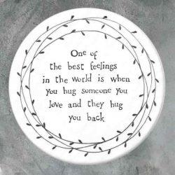East of India Best Feelings Porcelain Leaf Coaster