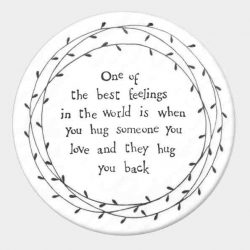 East of India Best Feelings Porcelain Leaf Coaster White