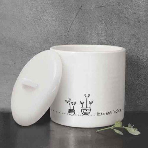 East of India Bits and Bob Lidded Porcelain Pot