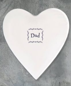 East of India Dad Porcelain Heart Coaster
