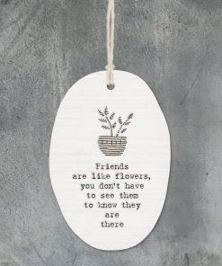 East of India Friends Like Flowers Porcelain Oval