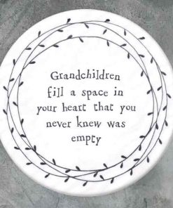 East of India Grandchildren Porcelain Leaf Coaster