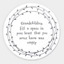 East of India Grandchildren Porcelain Leaf Coaster White