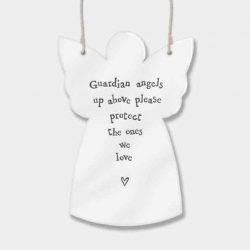 East of India Guardian Angels Porcelain Angel White