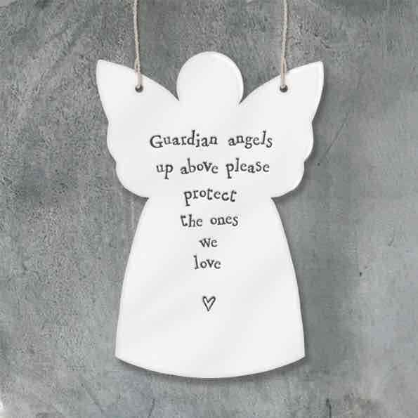 East of India Guardian Angels Porcelain Angel