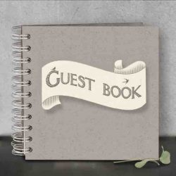 East of India Guest Book Ribbon Book