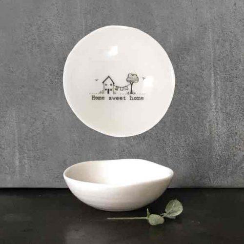 East of India Home Sweet Home Porcelain Trinket Bowl