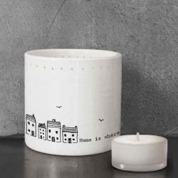 East of India Home Sweet Home Tea Light Holder