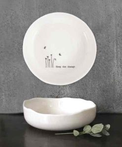 East of India Keep The Change Porcelain Trinket Dish
