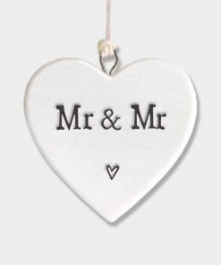 East of India Mr and Mr Porcelain Heart White