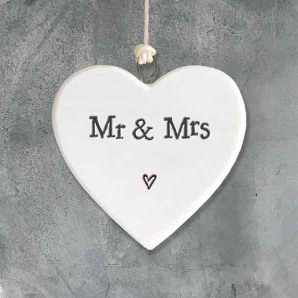 East of India Mr and Mrs Porcelain Heart