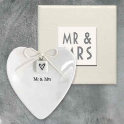 East of India Mr and Mrs Porcelain Ring Dish